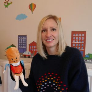 Helen with puppet
